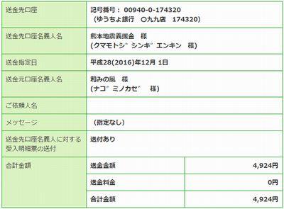 熊本県義援金1011月分
