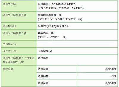 熊本県義援金1201月分
