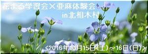 信州北相木の亜麻栽培イベントページ