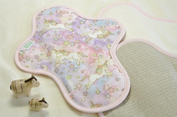 画像1: 布ナプキン一体型◆Lサイズ◆ドリームユニコーン(春)ピンク (1)