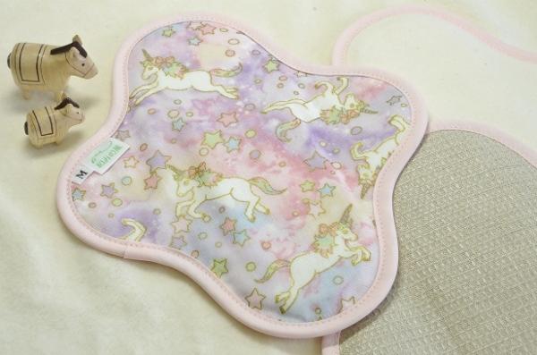 画像1: 布ナプキン一体型◆Mサイズ◆ドリームユニコーン(春)ピンク (1)