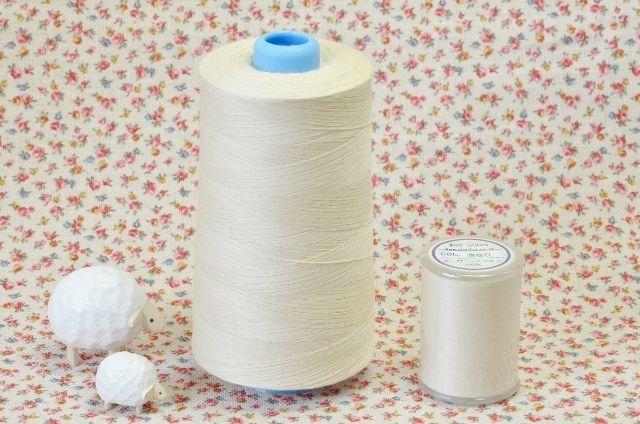 画像1: 縫い糸◆オーガニックコットン製 (1)