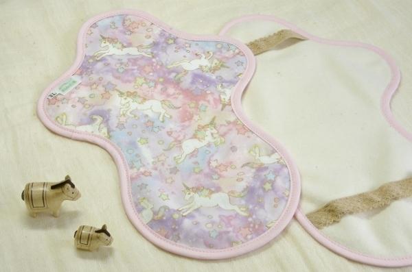 画像1: 布ナプキン◆ホルダー夜用◆ドリームユニコーン(春)ピンク (1)
