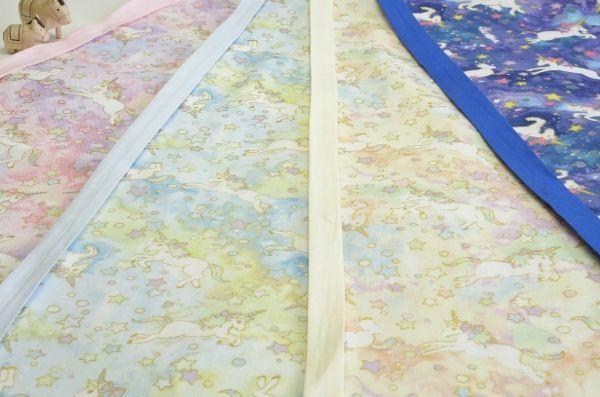 1.(春)ピンク、2.(夏)ブルー、3.(秋)イエロー、4.(夜)ネイビー