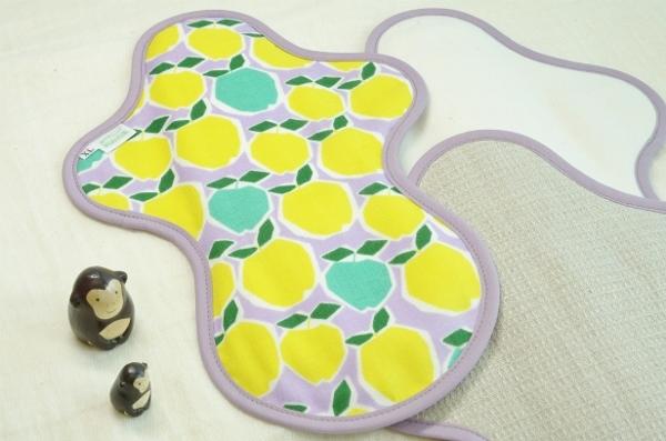 画像1: 布ナプキン一体型◆夜用◆カクカクりんご(黄色) (1)